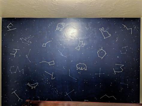 diy constellation mural wall kids bedroom  diy