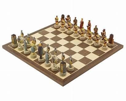 Chess Romans Greeks Painted Italfama Hand Sets