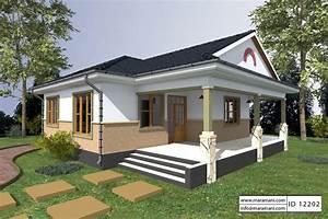 2, Bedroom, House, Plan, -, Id, 12202