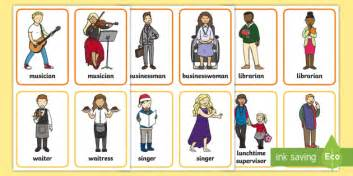 Common Jobs Word Flashcards  Common Jobs, Jobs, Work, Cards