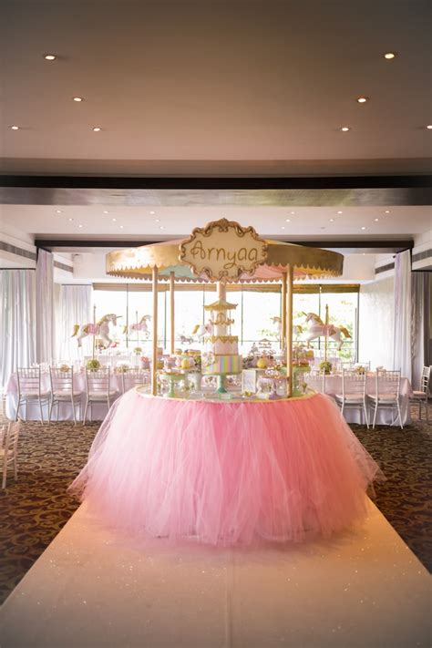 a pink gold carousel 1st birthday party party ideas kara 39 s party ideas gold and pastel carousel birthday party