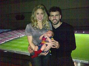 Shakira, baby Milan and Gerard Pique celebrate football ...