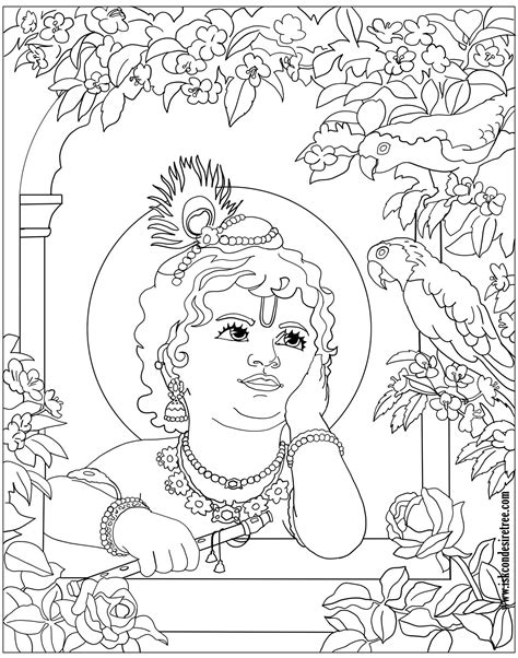 adult printable art coloring pages coloring krishna art