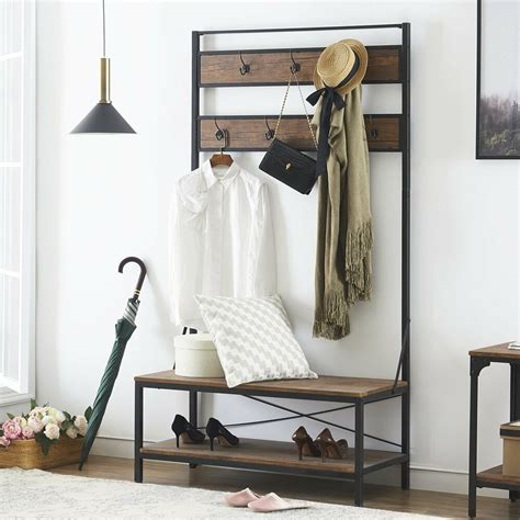Entryway Bench With Shoe Storage And Coat Rack by Ok Furniture 72 Inch Tree With Storage Bench
