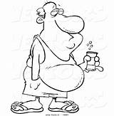 Belly Beer Cartoon Coloring Outline Drunken Drawing Fat Vector Pages Canned Beverage Leishman Drunk Clipart Drawings Ron Line Royalty Getdrawings sketch template