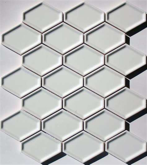 elongated hex tile lyric lounge elongated hex tile concave in candlelight white