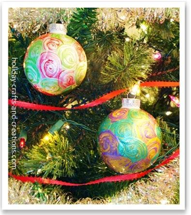 easy to make christmas ornaments painted swirl ornament