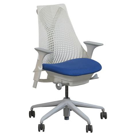 herman miller sayl used white back task chair electric