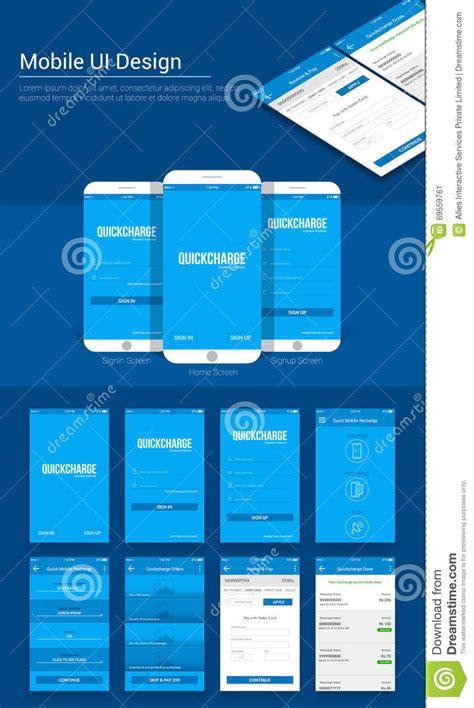 payment mobile app ui ux  gui template stock