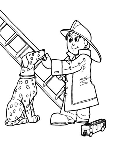 Dalmatian Fire Dog Coloring Pages Home