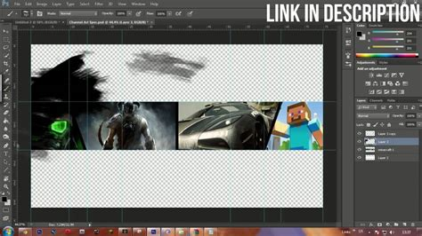 epic gaming youtube cover template speedart psd file