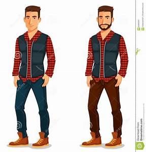 Handsome Young Man In Casual Outfit Stock Vector - Image ...