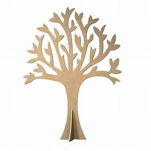 Arbre En Bois Deco : gomille support bois d corer arbre perc avec pied 30cm ~ Premium-room.com Idées de Décoration