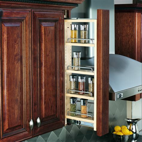 """3"""" Wall Filler Pullout With Adjustable Shelves"""