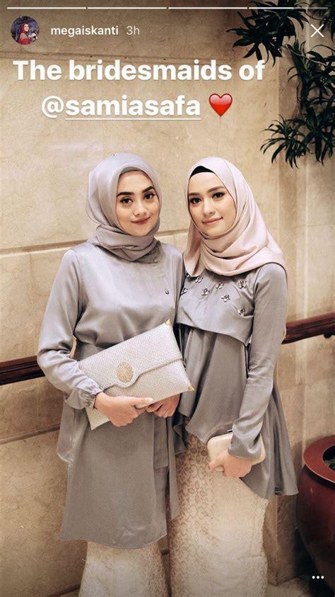 hijab bridesmaids inspiration atterosha hijabiformal moda cintas