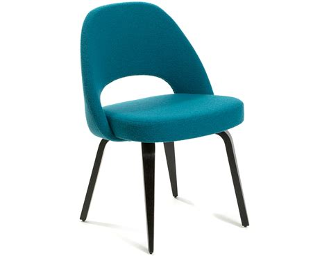 teal dining chairs saarinen executive side chair with wood legs hivemodern com