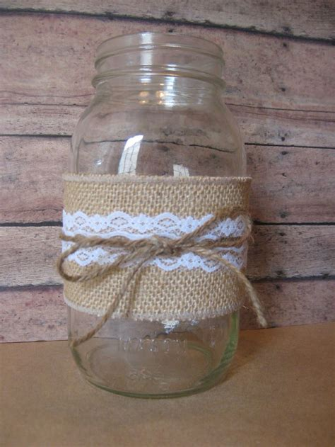 mason jar and burlap simple diy home sweet home