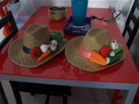 chapeaux decoration fruits et legumes par tumtum