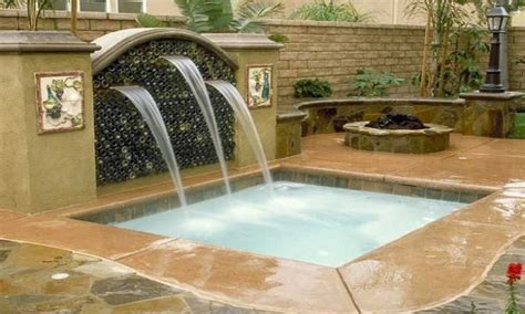 home and garden spas pool and spa tub with waterfall