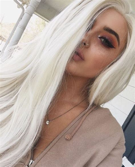 White Color Hair by 27 Best Platinum Hair Color And Highlights For