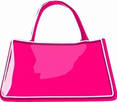 Purse Clip Clipart Handbag Bag Transparent Pink