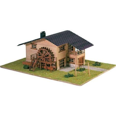 artesania 30603n maquette a monter en bois chalet noria avec roue de moulin francis miniatures