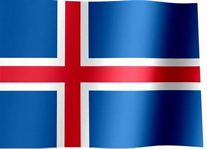 Flag Iceland Waving Flags Field Animated Cross