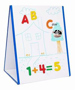 Edukid toys tabletop magnetic easel whiteboard 2 sided for White magnetic letters and numbers