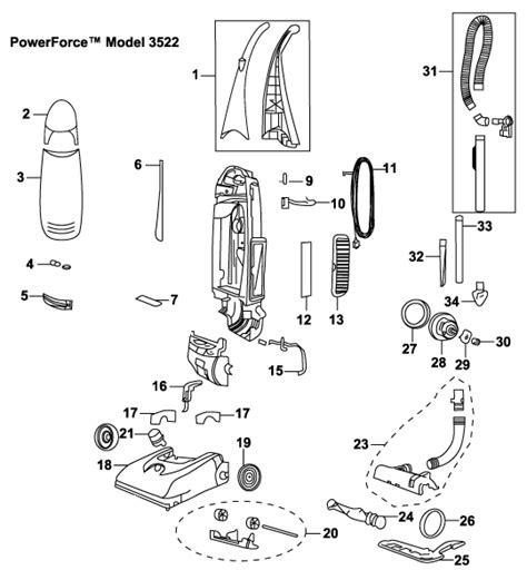 Wiring Diagram For Bissell Vacuum Cleaner by Bissell 3522 Powerfoce Upright Vacuum Parts Usa Vacuum