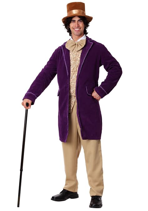 Deluxe Chocolate Factory Worker Costume Mens Willy Wonka