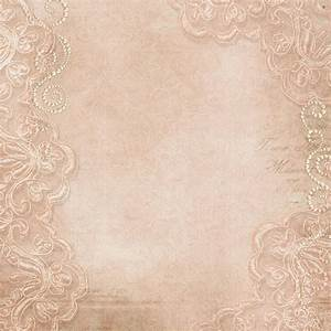 Vintage background with lace and pearls — Stock Photo ...