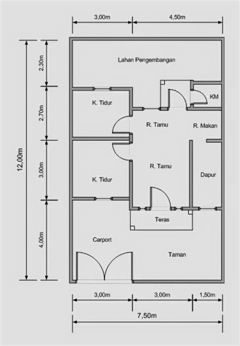 denah rumah minimalis luas tanah