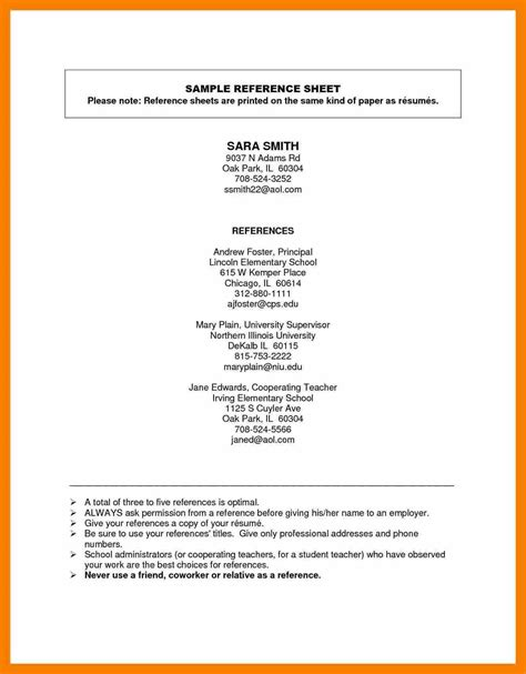 resume reference exle best resumes
