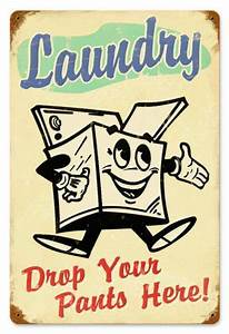 Vintage, Laundry, Metal, Sign, 12, X, 18, Inches