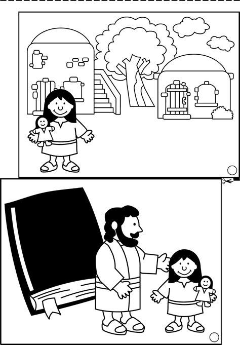 Het Dochtertje Jairus Kleurplaat by Jairus Jesus Heals Jairus