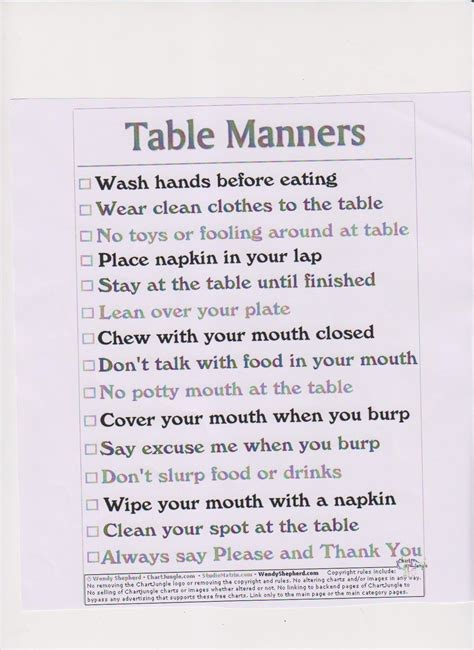 table manners quotes quotesgram