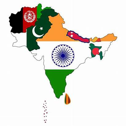 Asia South Map Asian Flag Indian American