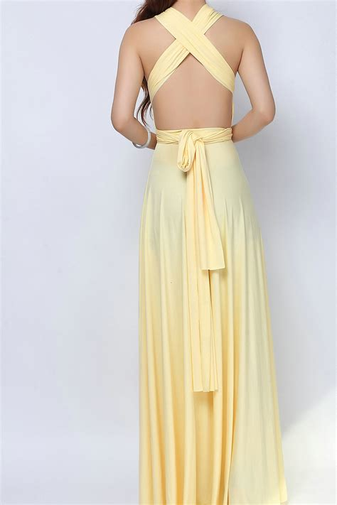 light yellow dress light yellow convertible dress bridesmaid dress lg