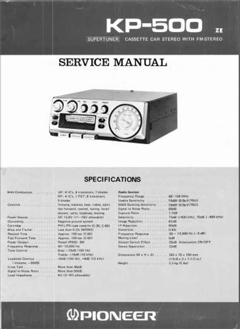 pioneer kp 500 schematic diagram pioneer deh x5600hd pioneer kp 500 ze service manual analog alley manuals
