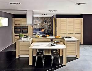 Plan De Travail Ilot : idee cuisine avec ilot simple idee cuisine avec ilot ~ Premium-room.com Idées de Décoration