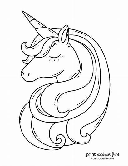 Unicorn Coloring Colorir Unicornio Unicornios Printable Dibujos
