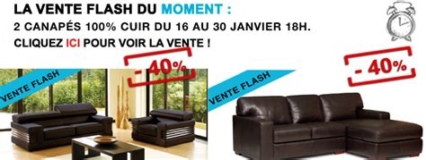 vente flash canape canapé