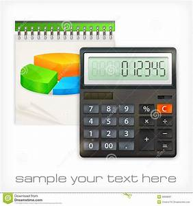 Calculator  U0026 Notepad Diagram Stock Vector