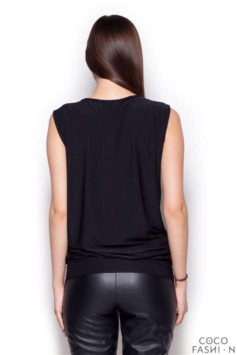 black sleeveless blouse black sleeveless drape blouse with front