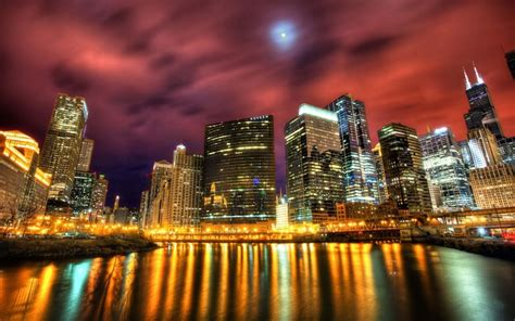 chicago skyline windows  theme themepackme