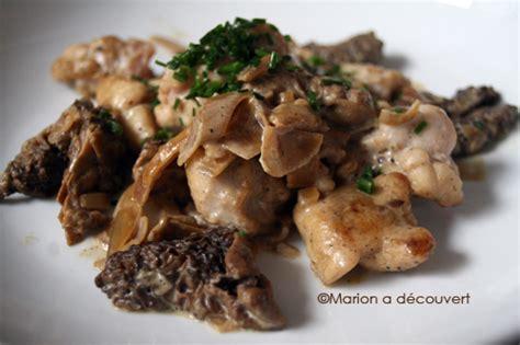 cuisiner noix de veau ris de veau aux morilles recettes de cuisine de marion flipo