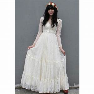 vintage 1970s romantic ivory lace wedding dress star With vintage ivory lace wedding dress
