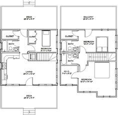 24x24 Cabin Floor Plans With Loft Home goals Pinterest