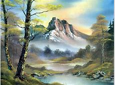 Bob Ross Mountain Landscape Paintings