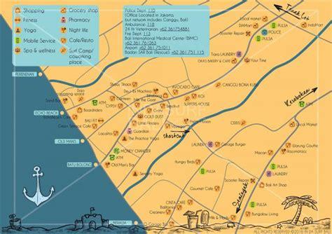 canggu community map enjoy life  da surf bali